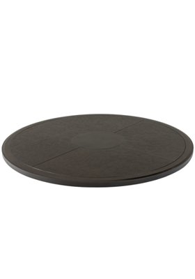 patio rounded textured table top