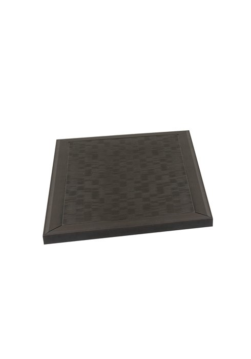 square outdoor textured table top