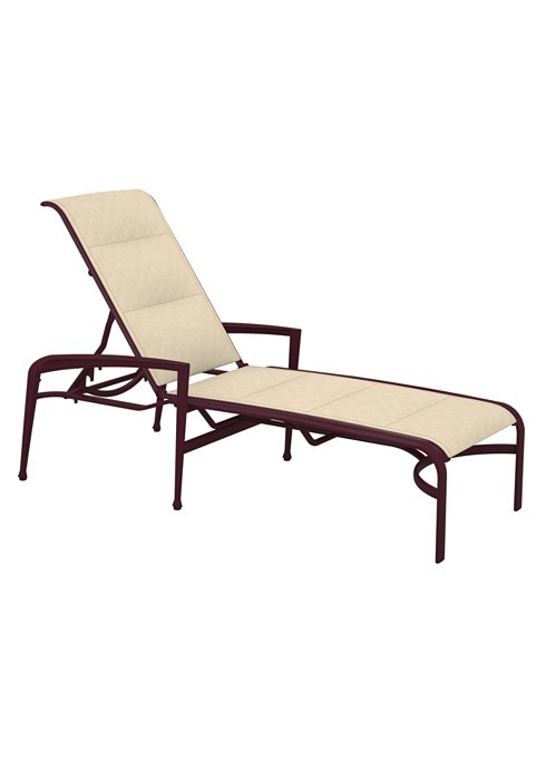 Chaise Lounge Patio Furniture Repair: Veer Padded Chaise Lounge