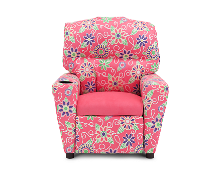 Daisy Doodle Passion Pink Recliner Furniture Row