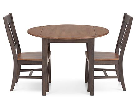 Hudson Park 3 Pc. Round Drop-Leaf Dining Room Set - Furniture Row