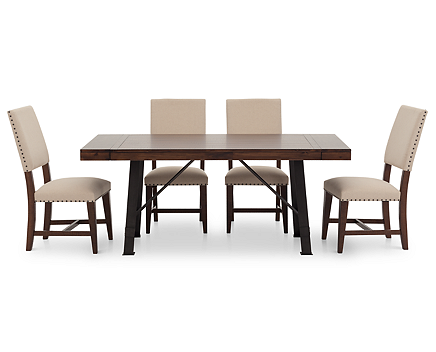 Urban Lodge 5 Pc. Upholstered Dining Room Set - Furniture Row