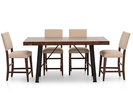Urban Lodge 5 Pc. Upholstered Counter Height Dining Room Set ...