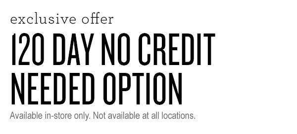 NO Credit Check 90 Day Payment Option Now Available