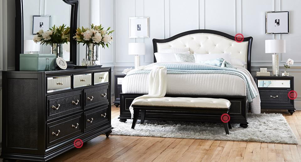 American Signature Furniture Bedroom and Dining Room Furniture by