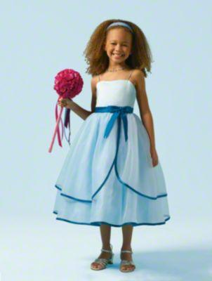 Split Front Tiered Skirt Designer Flower Girl Dress