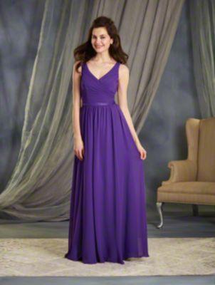 Satin Waistband Bridesmaid Gown