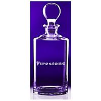 34 oz Decanter w/ Laser Etched Firestone Logo