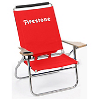 Beach Chair w/ WHITE Firestone Logo