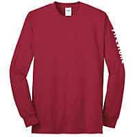 Red Long Sleeve Core Blend Tee