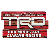 TRD Wood Fence Sign