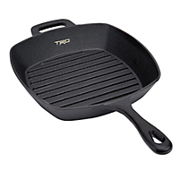 CraftKitchen™ Square Cast Iron Grill Pan