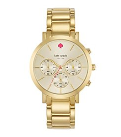kate spade new york® Gramercy Grand Goldtone Stainless Steel Chronograph Watch