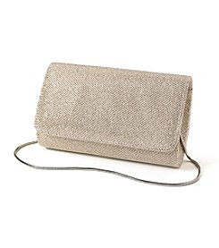 La Regale® Shimmer Metallic Flap Crossbody