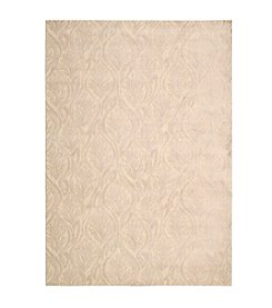 Nourison Hollywood Shimmer Aloha Paradise Cove Bisque Area Rug