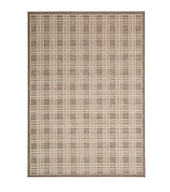 Nourison Hollywood Shimmer Americana Mission Craft Mocha Area Rug