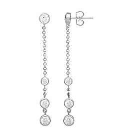 Balentino® Sterling Silver White Swarovski® Cubic Zirconia Earrings