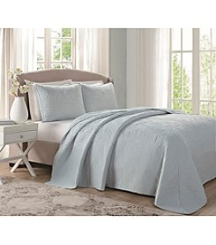 Laura Ashley® Home Stitched Floral Bedspread Collection