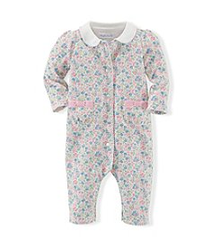 Ralph Lauren® Baby Girls' Floral Cotton Coveralls