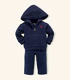 Ralph Lauren® Baby Boys' Navy Fleece Hook-Up