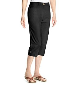 Studio Works® Petites' No Gap Twill Crop Pants