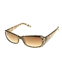 Relativity® Plastic Rectangle With Etching Sunglasses