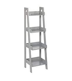 RiverRidge® Kids Grey 4-Tier Ladder Shelf
