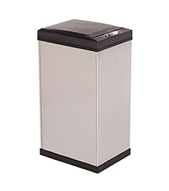 Kamenstein 40L Square Stainless Steel Trash Can