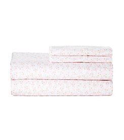 Living Quarters Blush Print Perfect Performance 400-Thread Count Sheet Set