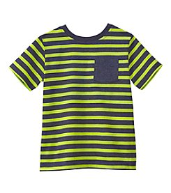 Mix & Match Boys' 2T-7 Short Sleeve Striped Pocket Tee