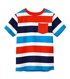 Mix & Match Boys' 4-7 Short Sleeve Striped Pocket Tee