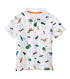 Mix & Match Boys' 2T-7 Short Sleeve Print Polo