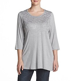 Laura Ashley® Plus Size Animal Foil Tunic