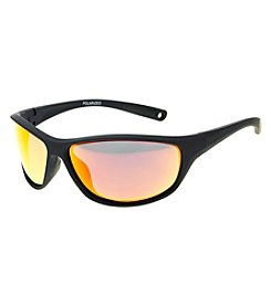 Paradise Collection® Men's Polarized Matte Sport Wrap Sunglasses
