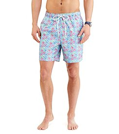Nautica® Men's Micro Floral Print Swim Trunks