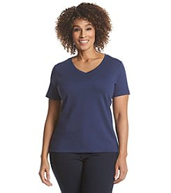 Studio Works® Plus Size Solid V-Neck Tee