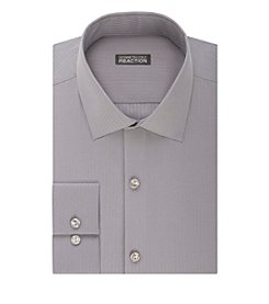 REACTION Kenneth Cole Men's Slim Fit Satin Spread Collar Dress Shirt