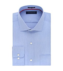 Tommy Hilfiger® Men's Regular Fit Stripe Spread Collar Dress Shirt