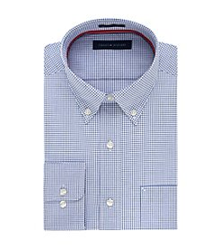 Tommy Hilfiger® Men's Regular Fit Grid Print Button Down Collar Dress Shirt