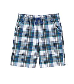 Mix & Match Boys' 2T-7 Pull On Plaid Shorts