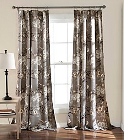 Half Moon Botanical Set of 2 Garden Room Darkening Window Curtains