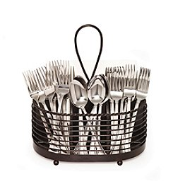 Gourmet Basics by Mikasa Rope Napkin & Flatware Caddy