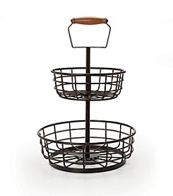 Gourmet Basics by Mikasa Thread 2-Tier Basket
