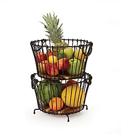 Gourmet Basics by Mikasa Vintage Round Stacking and Nesting Basket