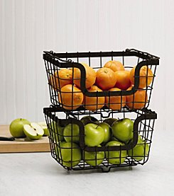 Gourmet Basics by Mikasa General Store Set of 2 Stacking and Nesting Baskets