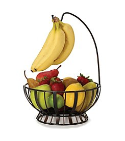 Gourmet Basics by Mikasa Band and Stripe Fruit Basket with Banana Hook