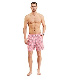 Nautica® Men's Gingham Print Swim Trunks