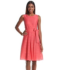 Tommy Hilfiger® Ribbon Stripe Fit And Flare Dress