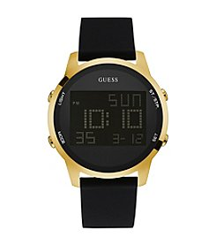 Guess Men's Goldtone Digital Chronograph Watch