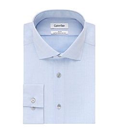 Calvin Klein Steel Men's Solid Spread Collar Slim Fit Dress Shirt